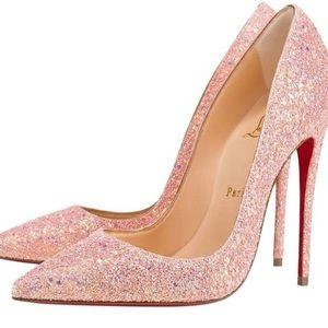 Glittery Pink Christian Louboutin Heels